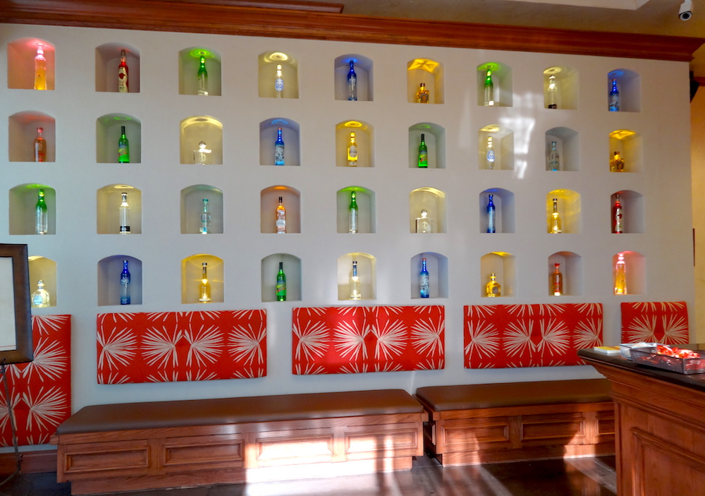 Abuelos Mexican Restaurant Tequila Wall using Architectural Foam
