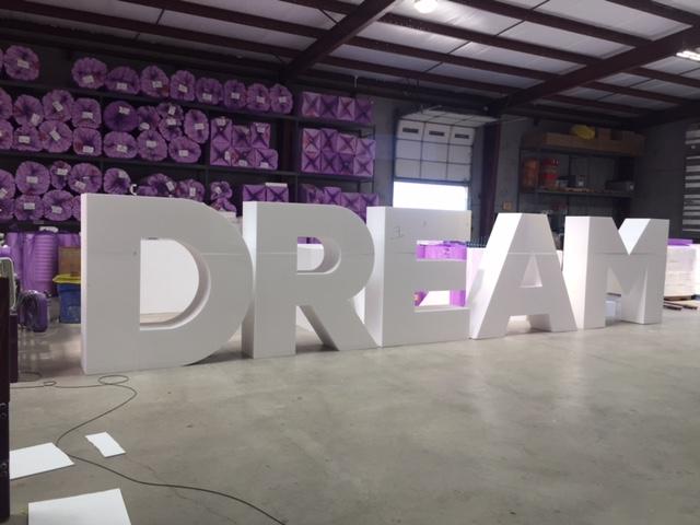 Dream Letters - Architectural Foam