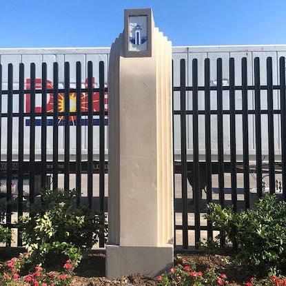 APC Architectural Precast Concrete Column Perimeter Landscape at Marine Research Facility in Gulf Port, MS